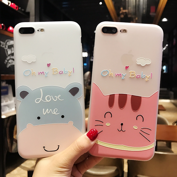Casing Realme 3 2 5 Pro X XT U1 C1 C2 Case Soft Cute Cat Hippo Silicone  Slim Full TPU Cover