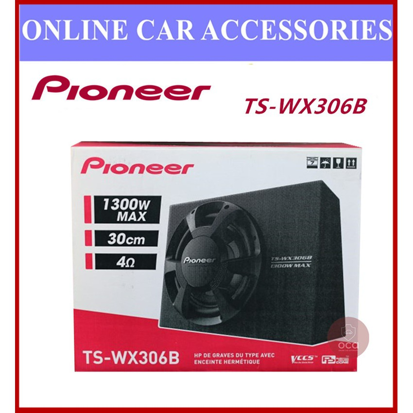 PIONEER TS-WX306B 12 INCH SLIM PRE-LOADED SUBWOOFER ENCLOSURE 1300W