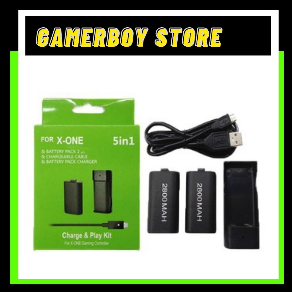 MICROSOFT XBOX ONE PLAY AND CHARGE KIT 5 IN 1 EDITION FOR CONTROLLER [BLACK] FOR XBOX ONE ONLY