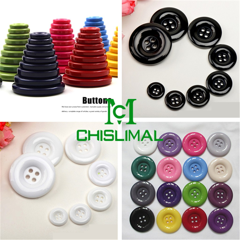 19 Colors 7 Size 4-Hole Buttons Bulk//Job Lot//Scrapbooking//Card Making//Crafting