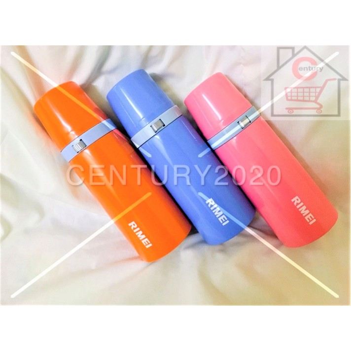 RIMEI Thermal Water Bottle for Hot & Cold Drinks | Stainless Steel Vacuum Sealed Insulated 350ML