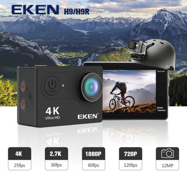 EKEN H9R 4K Action Camera Wifi Sports Cam(ORI) + Remote Control +16gb micro  SD