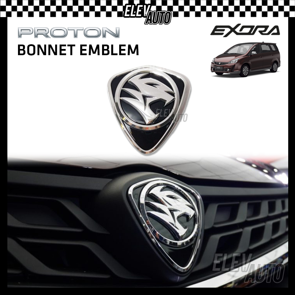 PROTON New Design Chrome Logo Emblem Front & Rear Exora