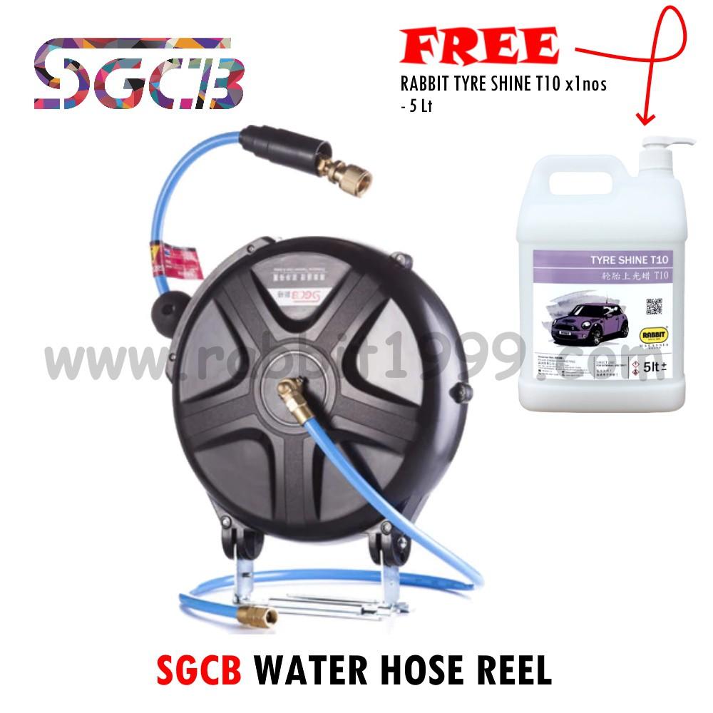 SGCB WATER HOSE REEL [FREE 1xnos Rabbit Silicone T10- 5Lt] water hose reel/ water hose/ water reel/ hos air