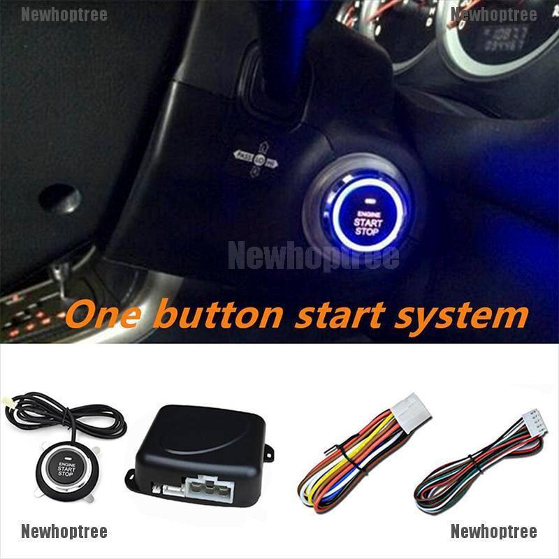 12V Push Button Car Engine Start Stop System Kit For Auto Keyless Entry Alarm