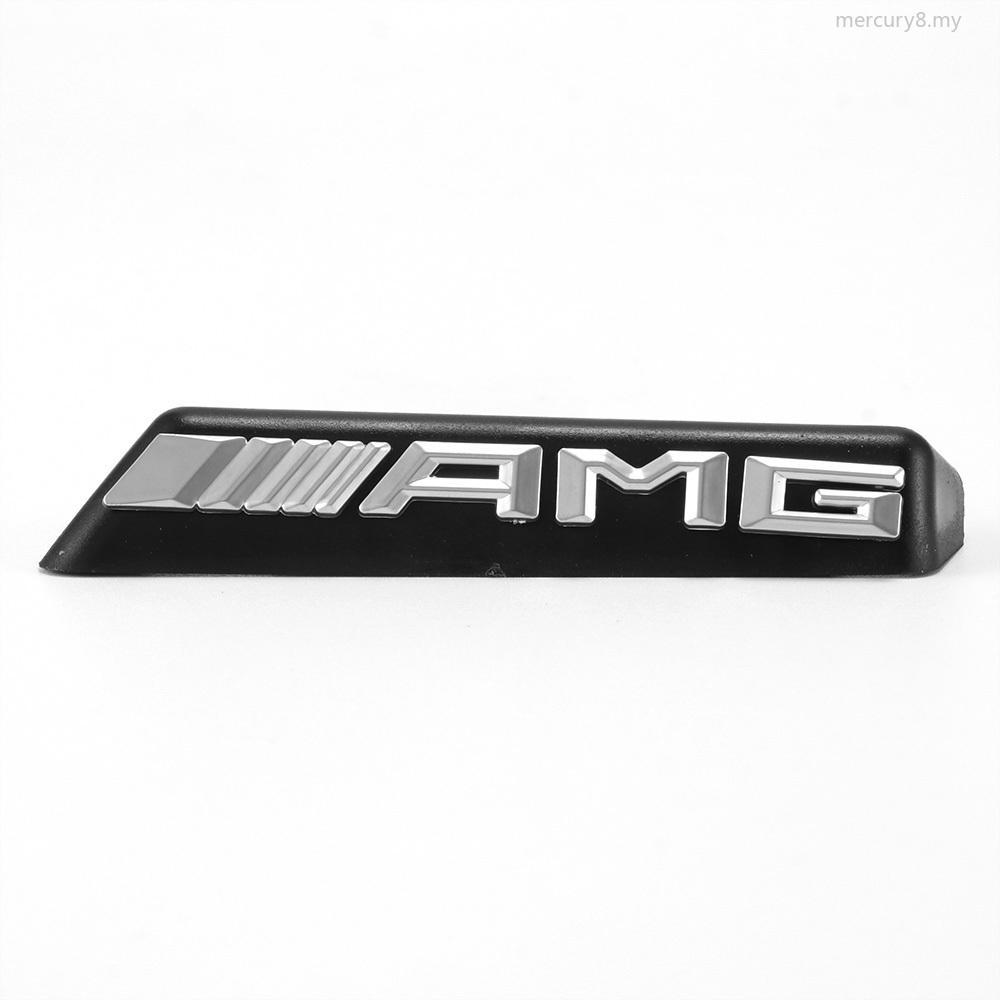 Car Logo Sticker Mercedes AMG Apple Tree Brushed Aluminium Badge Emblem Brand