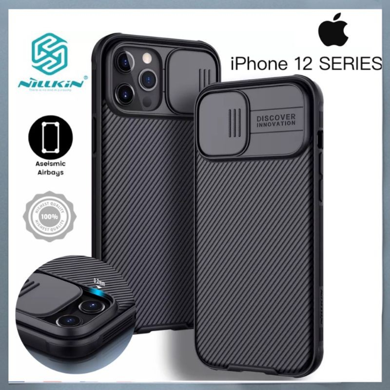 iPhone 12 Pro Case NILLKIN Cam Case Slide Camera Cover Protect Classic Back Cover For iPhone12 mini iPhone 12 Pro Max