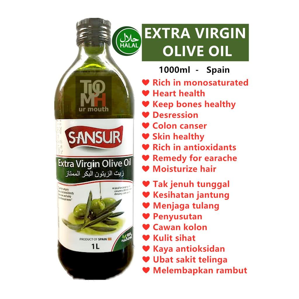 1L NEW STOCK *** Minyak zaitun extra virgin olive oil 橄榄油 (EVOO) *expired 2022*
