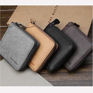 🔥Hot Sale🔥 Men Leather Short  Section Purse Casual Zip Wallet