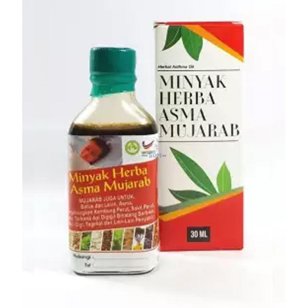MINYAK HERBA ASMA MUJARAB 30ML 100% ORIGINAL HQ+FREEGIFT
