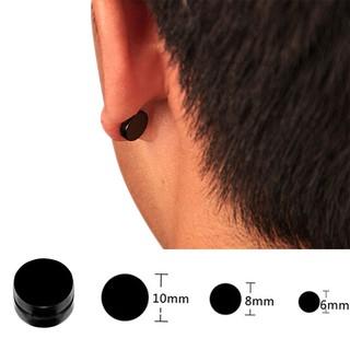 9ed56c8395e70 2pcs Titanium Steel Mens Women Round Magnetic Clip on Stud Earrings ...