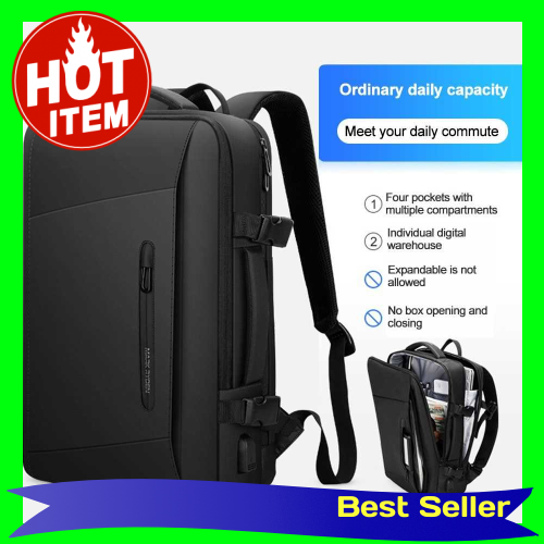MARK RYDEN Portable Multi-Function Large Capacity Waterproof USB Business Backpack Business Trip Anti-Theft Laptop Bag