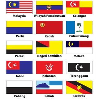 Malaysia All States Flag Bendera Semua Negeri Malaysia 3ft X 6ft Shopee Malaysia