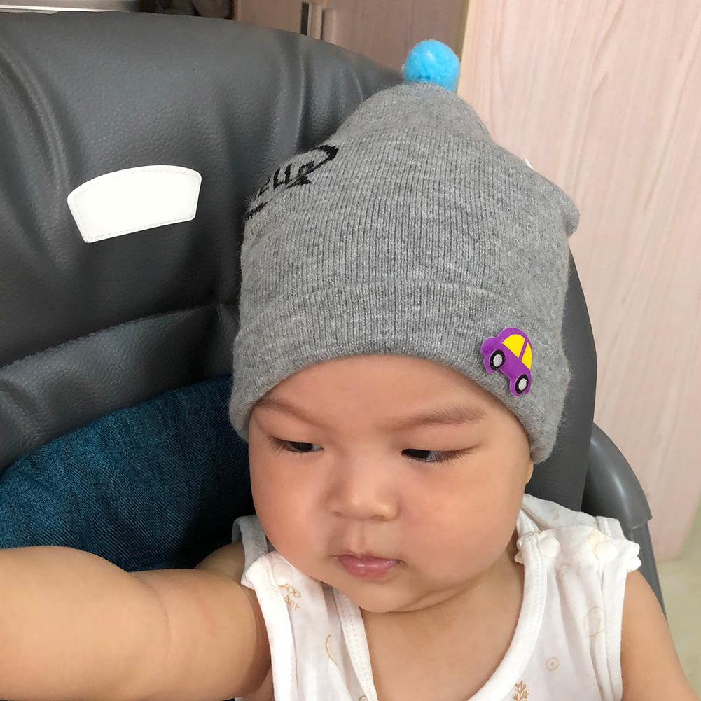 89e0390b5 Cute 0-1Y Baby Girls Boys Knitted Car Print Foldable Hats Kids Warm Hat