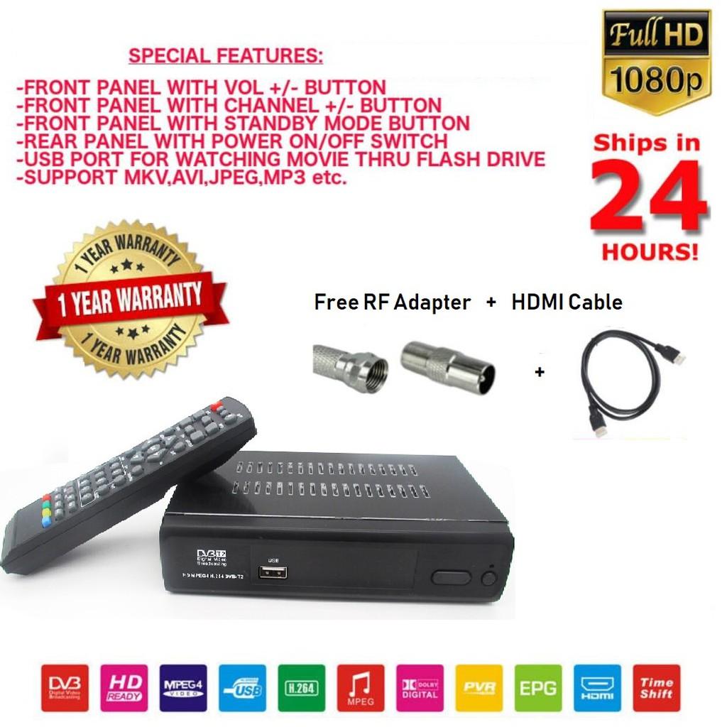 (Free RF Adapter) Digital HDTV Myfreeview My Tv Full HD TV Digital Local TV
