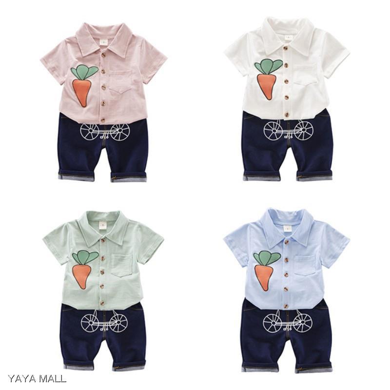 86df3028760dc ProductImage. ProductImage. Baby Boy Cartoon Summer New Style Cotton Short  Sleeve T-shirt+pants 2pcs Set