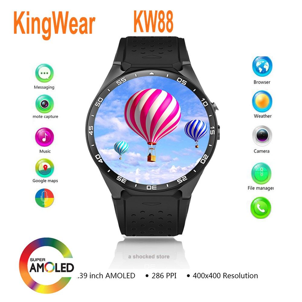 KingWear KW88 Android 1 39 inch Amoled Screen 3G Smartwatch Phone