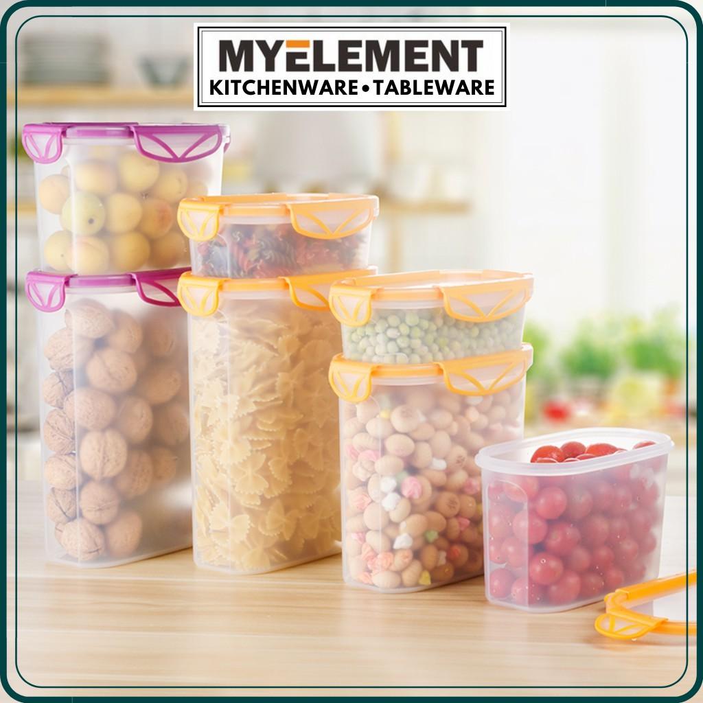 Myelement Home BPA Free 100% Airtight Food Container Set Dispensers tupperware bekas kuih raya bekas makanan