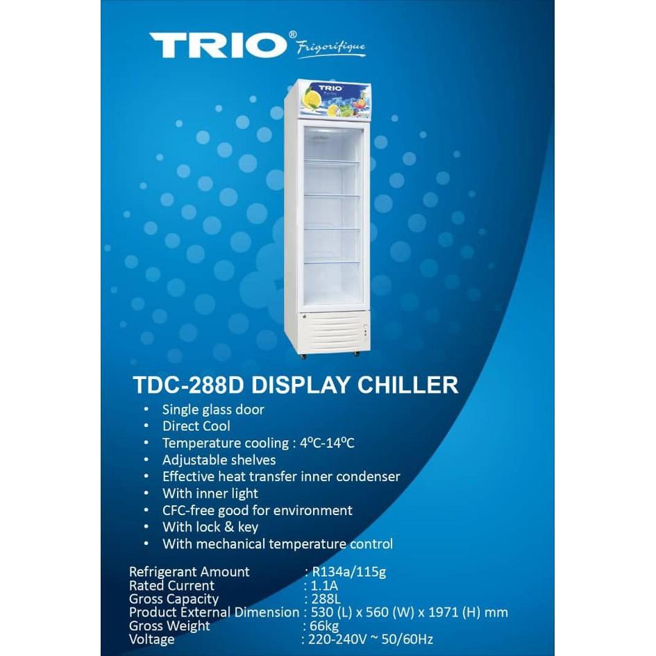 288L Showcase Chiller TRIO TDC-288D