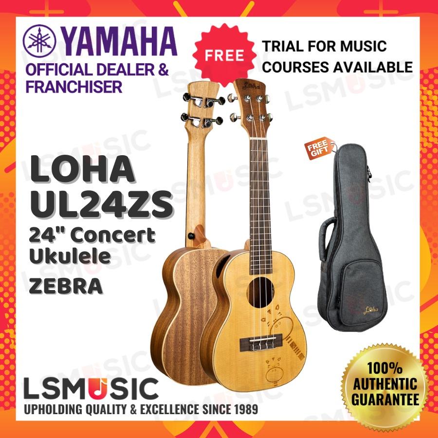 """Loha Ukulele UL24 24"""" Solid Top Concert Ukulele UL24 NS / ZS / RS Ukulele Guitar for Beginner Kids Entry Level"""