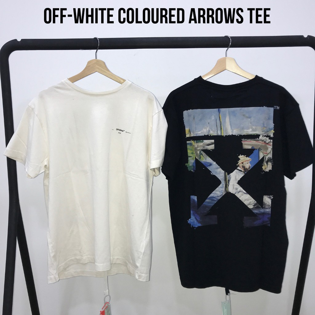 45473603 Off-White Gradient Black Oversized Tee | Shopee Malaysia