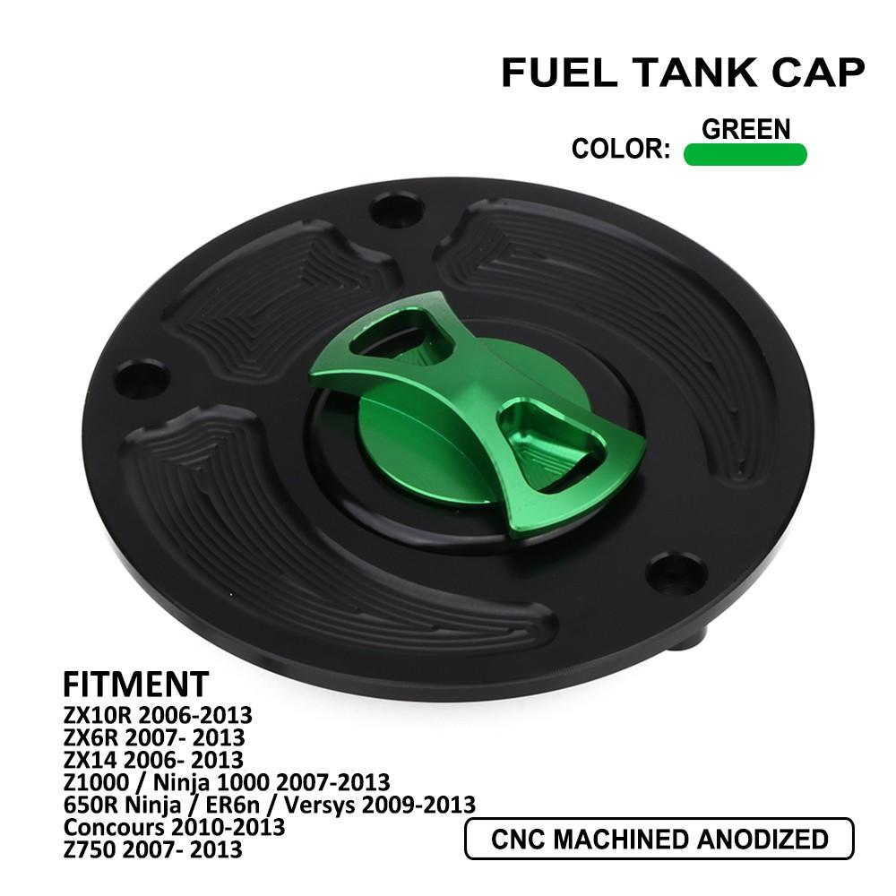 green Fuel Tank Gas Petrol Tank cover fit For Kawasaki ninja zx-6r 2009-2012 12