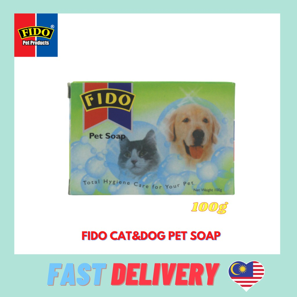 Ready Stock Fido Pet Soap 100g (SUITABLE FOR DOG & CAT)