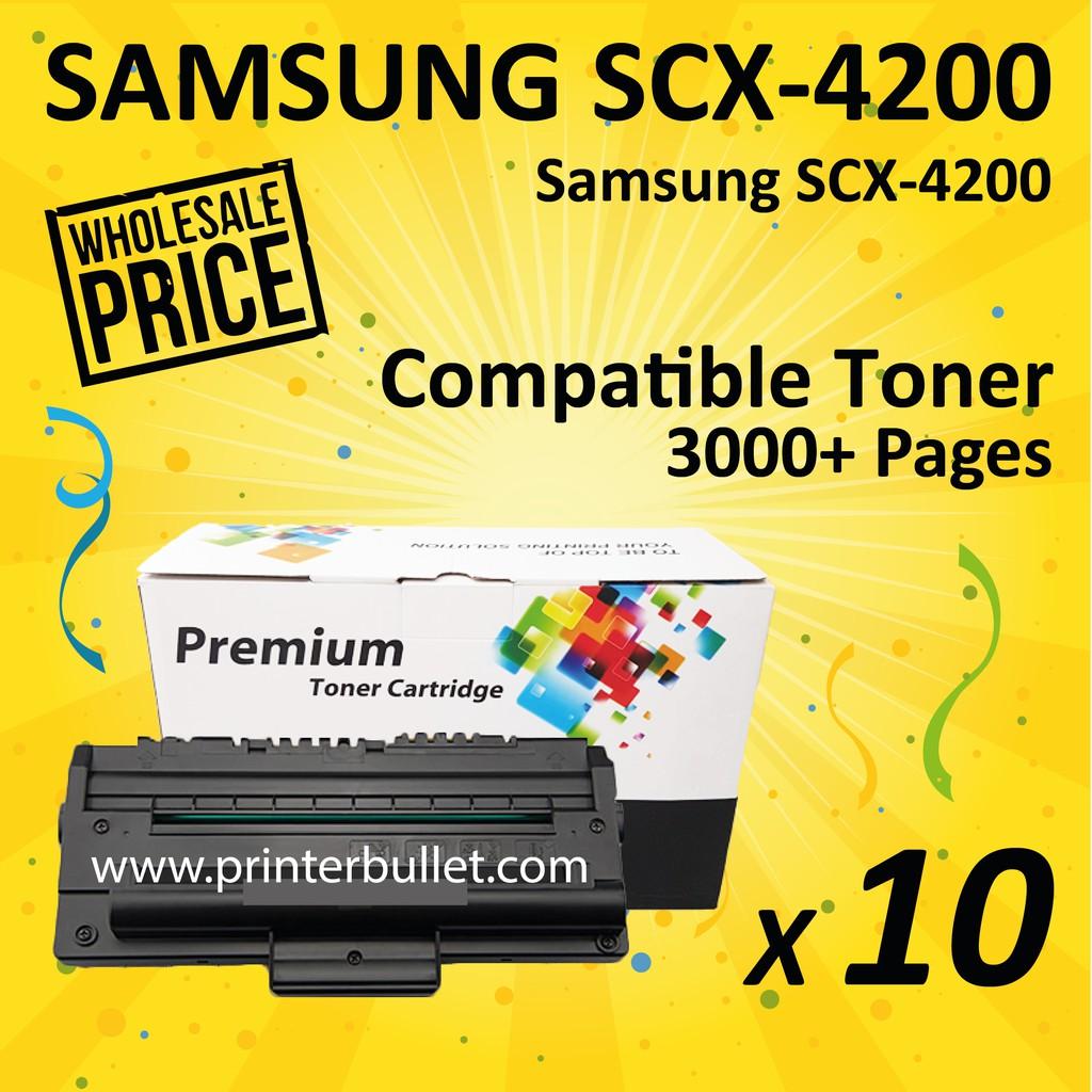 10 unit SAMSUNG 4200 / SCX-4200 / SCX4200 Compatible Laser Toner Cartridge