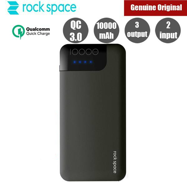 (Original) Rock Space P40 QC3 0 Fast Charge Charger 10000mAh Power Bank