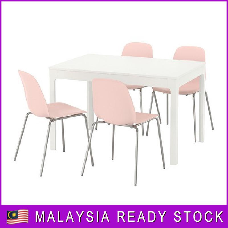 25a09c5c248 IKEA EKEDALEN   LEIFARNE TABLE AND 2 CHAIRS WHITE PINK 80 120 CM ...
