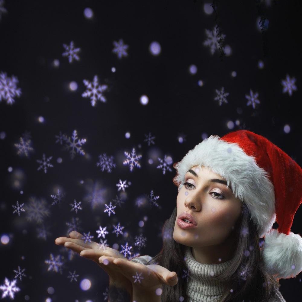 Lighting Specially Projector Light Snowflake Desi White Led Snowfall Rotatable CxhQsrtBd