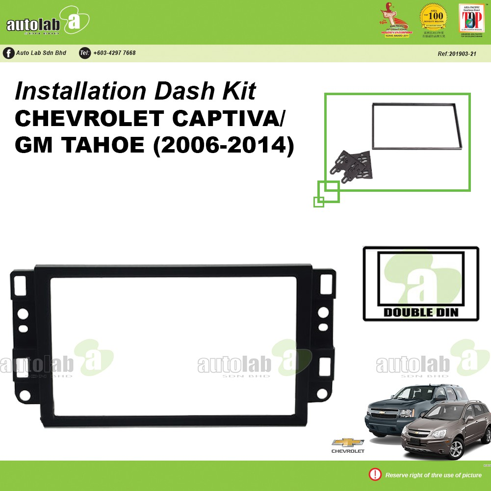 Player Casing Double Din Chevrolet Captiva / GM Tahoe (2006-2014)