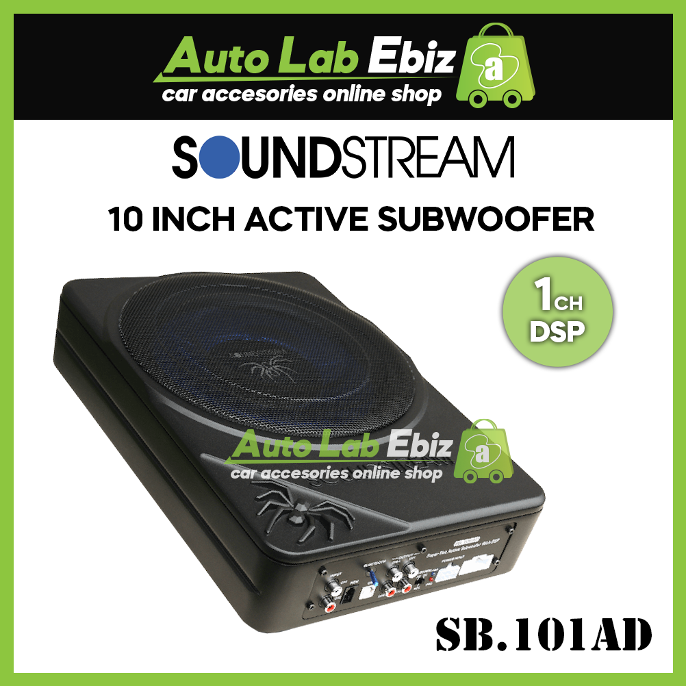 Soundstream Active Subwoofer with 1 Channel (10 Inch) DSP SB.101AM