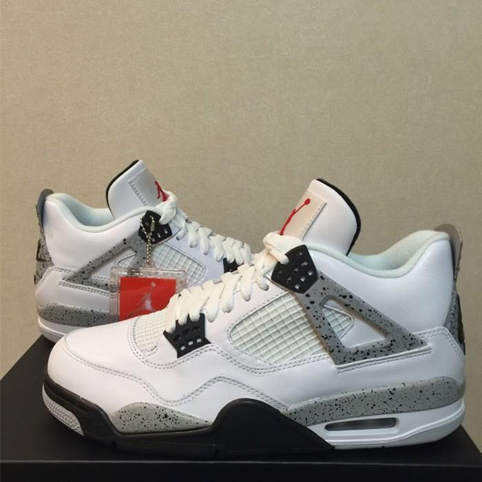 online store 6b9df 3dab4 Nike Air Jordan 4 OG 89 White Cement(on the heel) 2