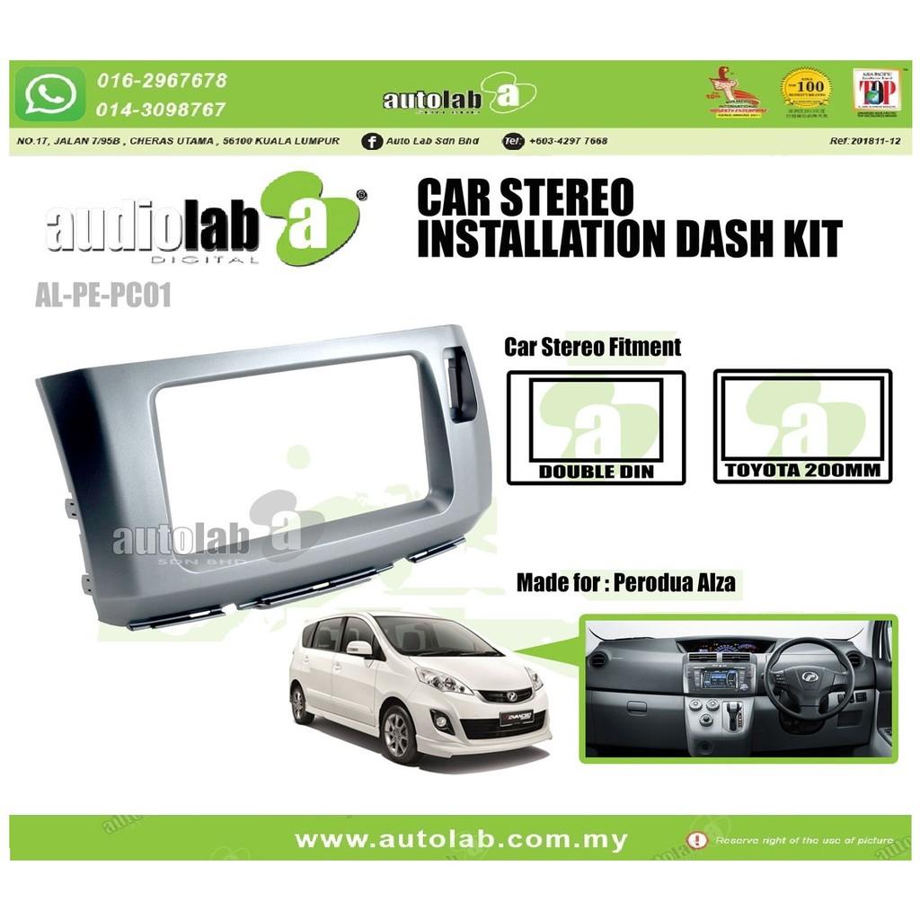Player Casing Double Din (200MM) Perodua Alza 2009-2018