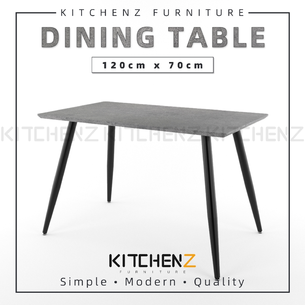 Kitchenz Modern Contemporary Dining Table-HMZ-FN-DT-JT01(12070)-GY