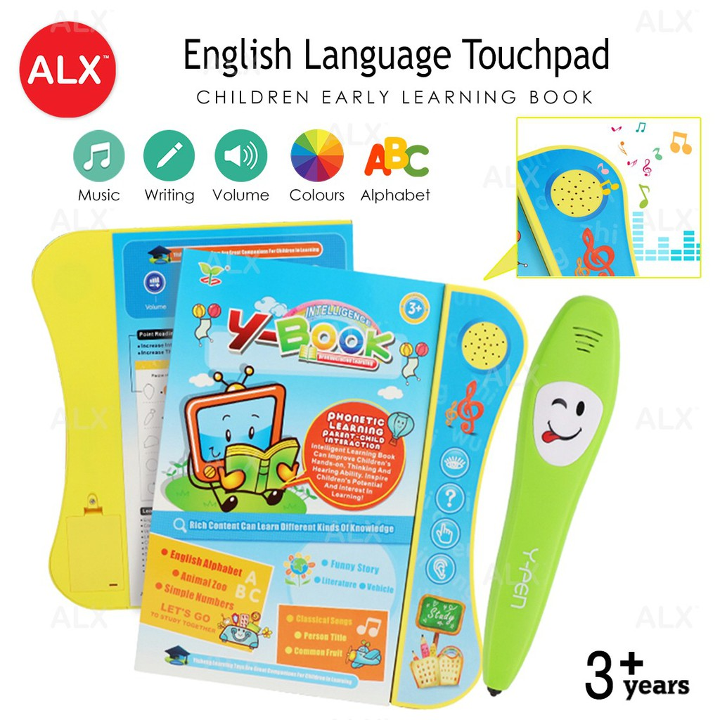 ALX Children English Language Early Learning book Colourful Touchpad 2605