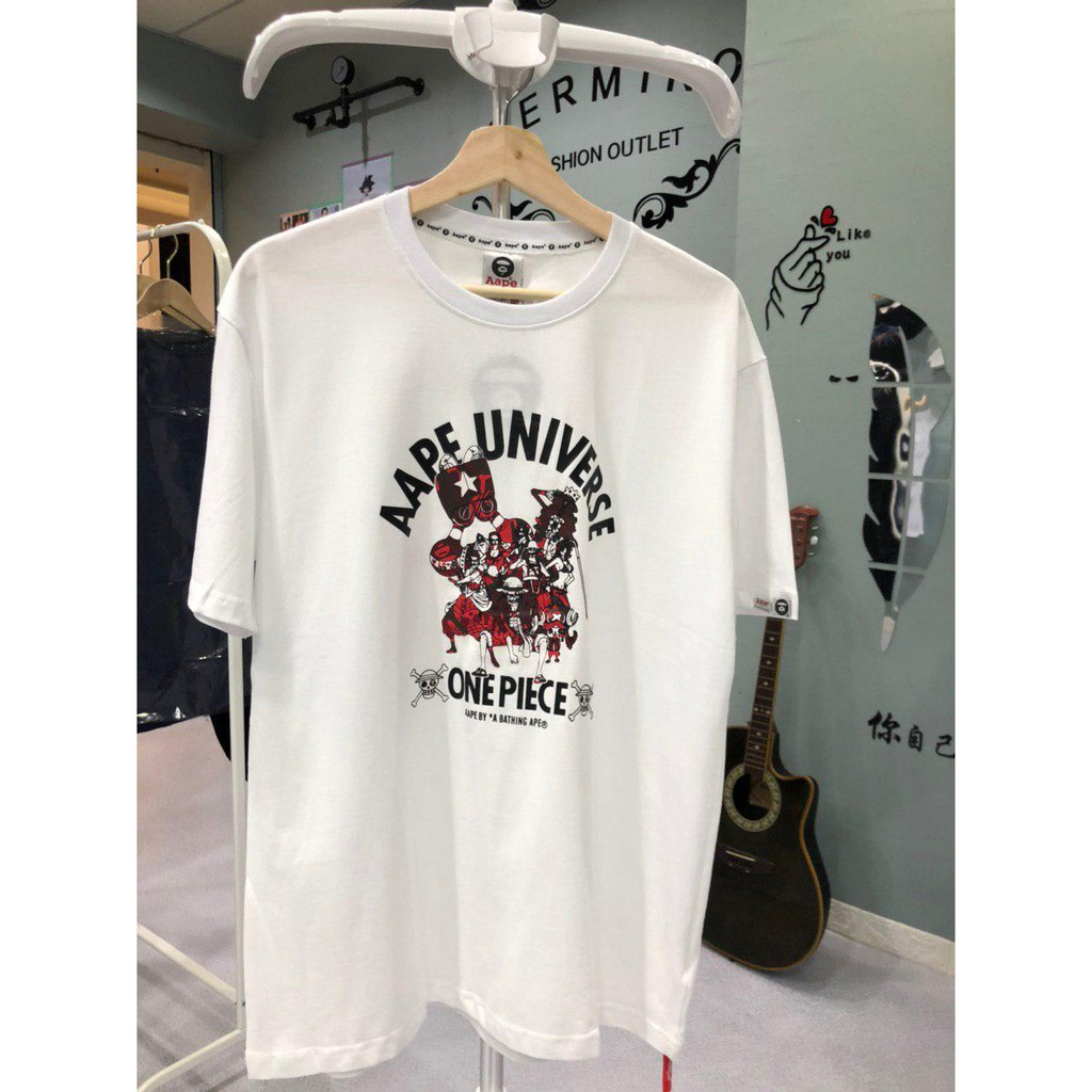 AAPE X ONE PIECE T-Shirt 9270W PREMIUM T-Shirt by A Bathing Ape