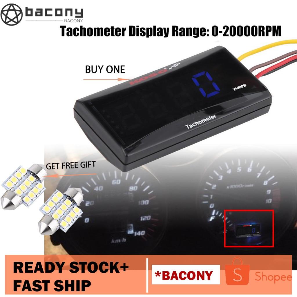 🎁[Buy 1 get 1]🎁 Motorcycle LED Digital Tachometer Speed Meter RPM Tester  DC 8-18V for Honda Yamaha Kawasaki