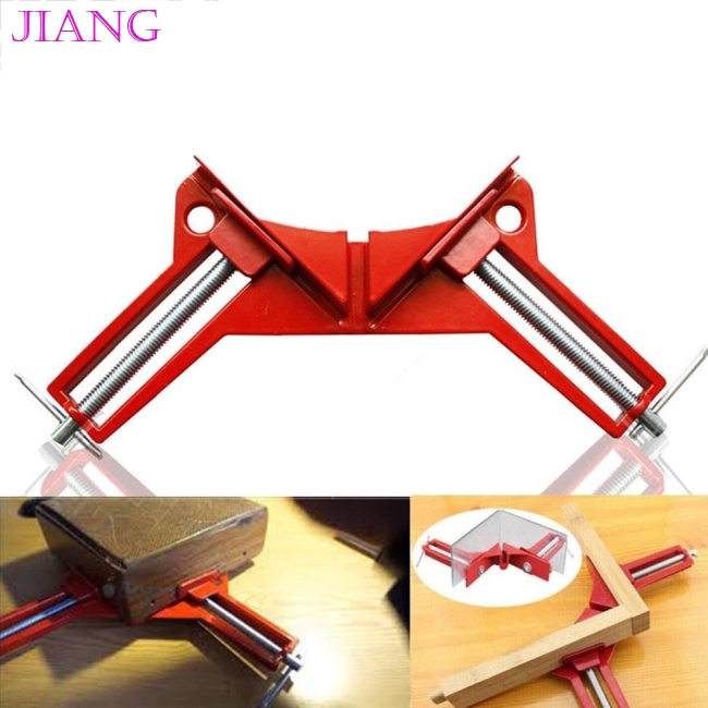 Right Angle 90 Degree Woodworking Picture Frame Corner Clip Clamp Metal Kit