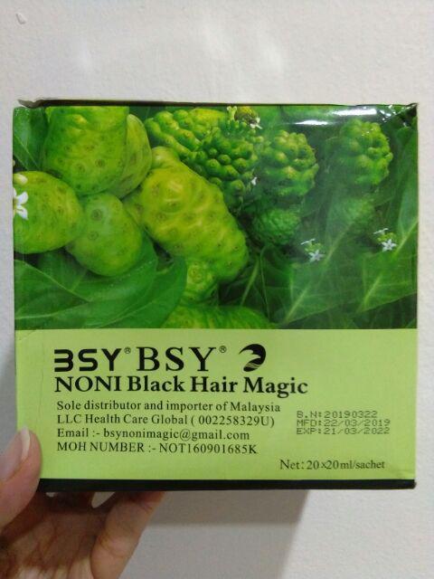 BSY Noni Black Hair Magic 1 box (20 X 20ml/sachet) | Shopee