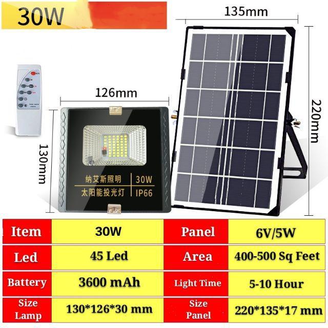 [ READY STOCK ]  Waterproof Solar Flood Light Remote Control Lighting Control Led Spotlight Lamp Pelita Lampu Raya Murah