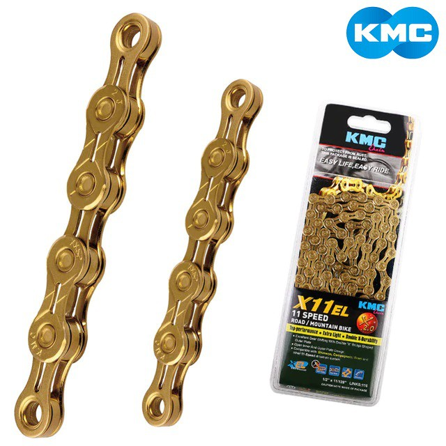 KMC 10//11 Speed Bicycle Chain,KMC X10EL X11EL Bike Bicycle Chain with Missing Link Suitable for Shimano Campagnolo SRAM