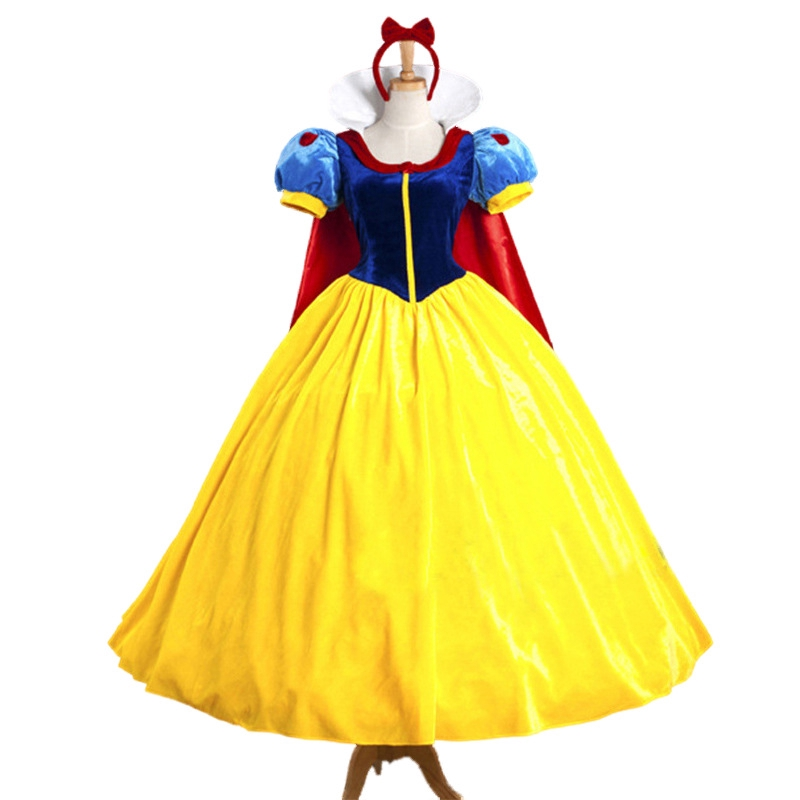 Cosplay Snow White Princess Fairytale Long Dress Masquerade Party Women Dress