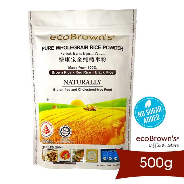 ecoBrown's Wholegrain Rice Powder 500g