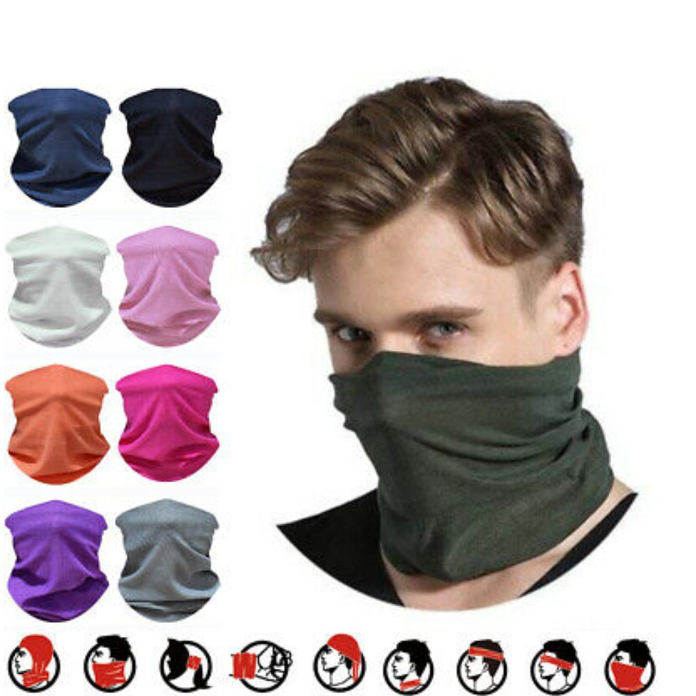1pc Warmer Casual Outdoor Scarf Tube Unisex Snood Headwear Magic Outdoor Bandana Key