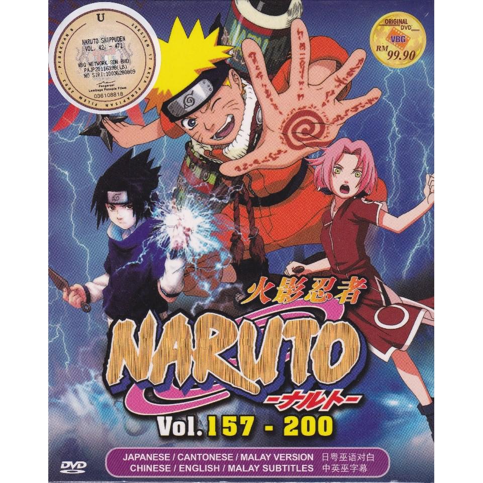 NARUTO SHIPPUDEN Vol 157-200 Box Set Anime DVD