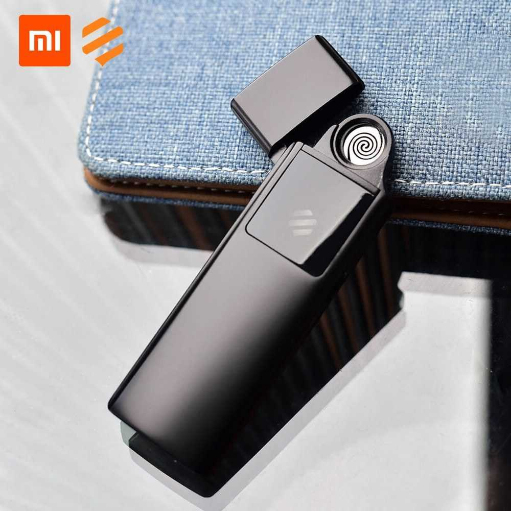 Great Discount Xiaomi Youpin Beebest Ultra-thin Charging Cigarette Lighter USB Rechargeable Windproof Flameless Lighter