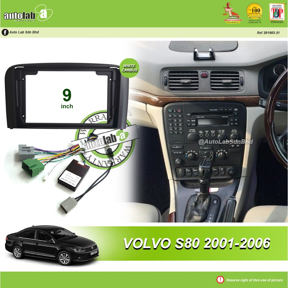 """Android Player Casing 9"""" Volvo S80 2001-2006 (with Socket Volvo & Canbus Module + Antenna Join)"""