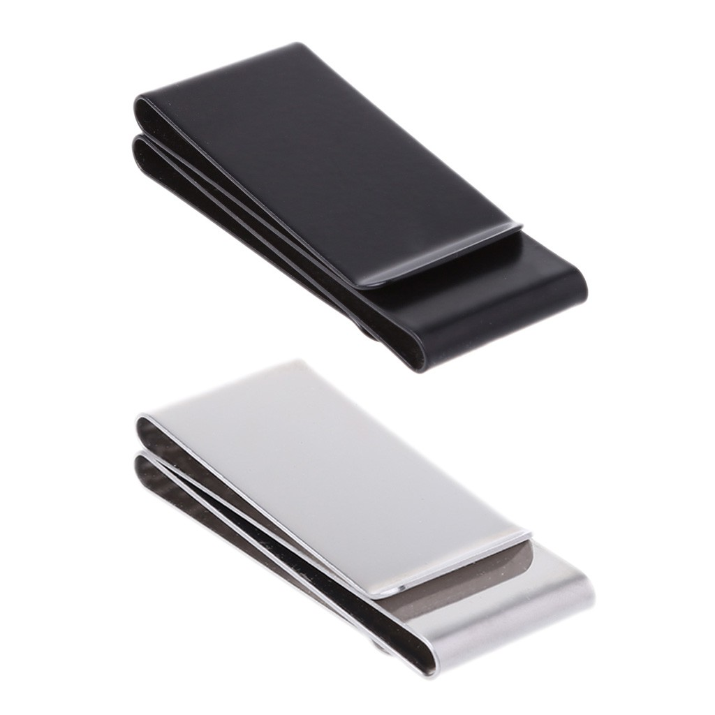Trendy Stainless Steel//Silver Metal Credit Card Money Clip Pocket Holder Wallet